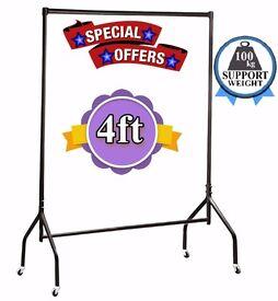 Clothes Rail Black 4ft Heavy Duty 4 Garment,Wardrobe,Shop Display & Home Storage Display 630/BBB