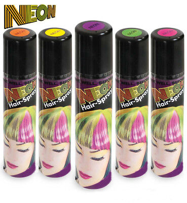 Neon Hair-Spray in verschiedenen knalligen Farben, Haarschmuck (Spray In Hair Farbe)
