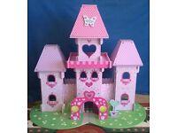 ELC Wooden Fairy Princess Pink Dolls House Castle