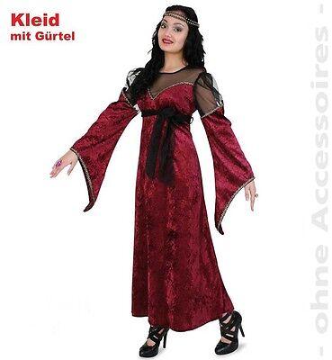 Prinzessin Cilla Kostüm 38-46 Mittelalter LARP Kleid Burgfrau weinrot 1210678G13