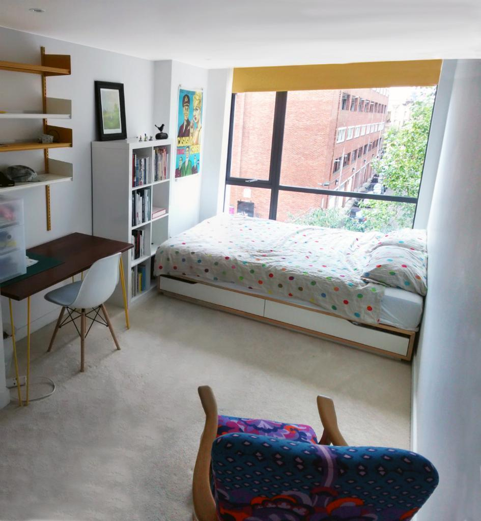 Ensuite room design apartment hoxton 6 months let inc all for Gay bedroom ideas