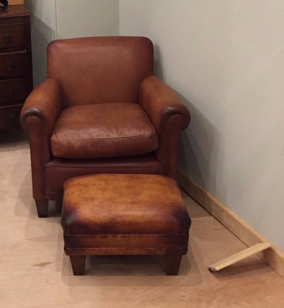 Charming AS NEW Laura Ashley Burlington Leather Chairs X 2