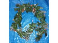 Large Christmas Garland with Pine Cones & Berries