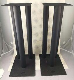 GALE speaker stands. 3 column, matt black, 20in (50cm) high.