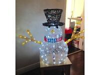 Christmas indoor/outdoor Snowman £60 ono