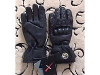 Motorbike Leather Gloves ( New with tags) Size: S/M