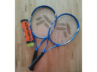 2 Tennis Rackets with 4 Balls