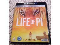 LIFE OF PI - 4K ULTRA HD BLU RAY (PLUS BLU RAY & UV CODE)