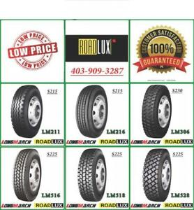 ROADLUX * LONGMARCH * SEMI TRUCK TIRES - CLEARANCE PRICING!     NO PST!!