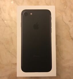 Brand New iPhone 7 - 128GB in Matte Black. Unlocked for 1st Sim
