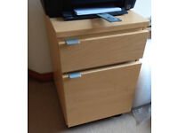 Birch Ikea Drawer Unit with Wheels