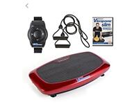 Vibrapower Slim with Resistance Bands, Remote Control Watch and Vibrapower Workout DVD