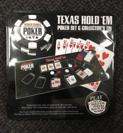Works Series of Poker - Texas Hold'Em Poker Set in Collectors Tin