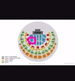 Donny Osmond Tickets - Glasgow Hydro - Floor seats -Block 002