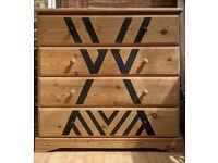 Chest drawer 92x90x45 cm