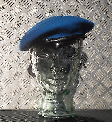 Army / Military Style Light Blue / UN Blue Wool Beret / Berret Size 7½ - L - NEW