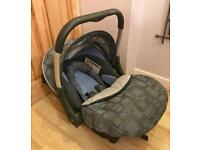 Silver Cross Baby Car Seat with Hood and Newborn support
