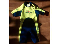 Kids Shorty Wetsuit age 3.5-5 by Land&Sea Sports Australia in great condition