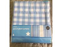 M&S Gingham unlined curtains 100% cotton