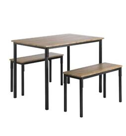 Dining table & bench set