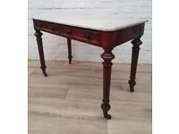 Victorian Marble Topped Console Table (DELIVERY AVAILABLE FOR THIS ITEM OF FURNITURE)
