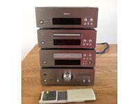 Denon F-10 complete stereo hi-fi system. UPA-F10, UDR-F10, UCD-F10, UTU-F10. .
