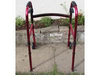 Zimmer frame rollator walking frame mobility light weight foldable adjustable height