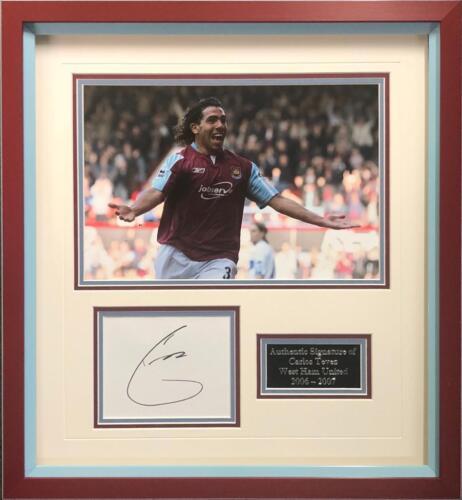 731d101391605 Carlos Tevez Signed   FRAMED Mounted Display West Ham United FC AFTAL COA (B)   258.89