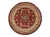 Circular classic traditional style oriental rug