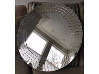 Ikea Round mirror with mosaic mirrored frame 50 cm diameter; Collect from Chiswick W4