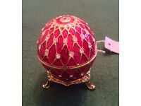 Faberge Style Egg Trinket Box BNWT *Mother's Day Gift*