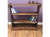 Handmade rustic bookcase