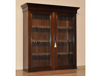 Attractive Antique Edwardian Mahogany Glazed Shop Bookcase Display Cabinet Top