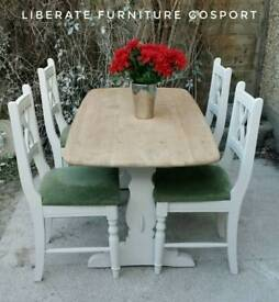 Lovely solid oak Ercol table and 4 chairs