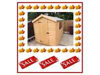 8x6 Apex £379.00 HIGH QUALITY x16mm T&G (FREE DELIVERY AND INSTALLATION) ALL SIZES AVAILABLE