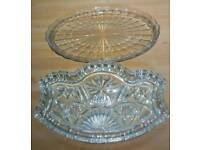 Vintage Glassware. Perfect cond.
