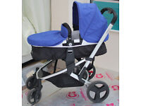 SOLD Mothercare Xpedior 3-in-1 travel system (pram stroller car seat) blue