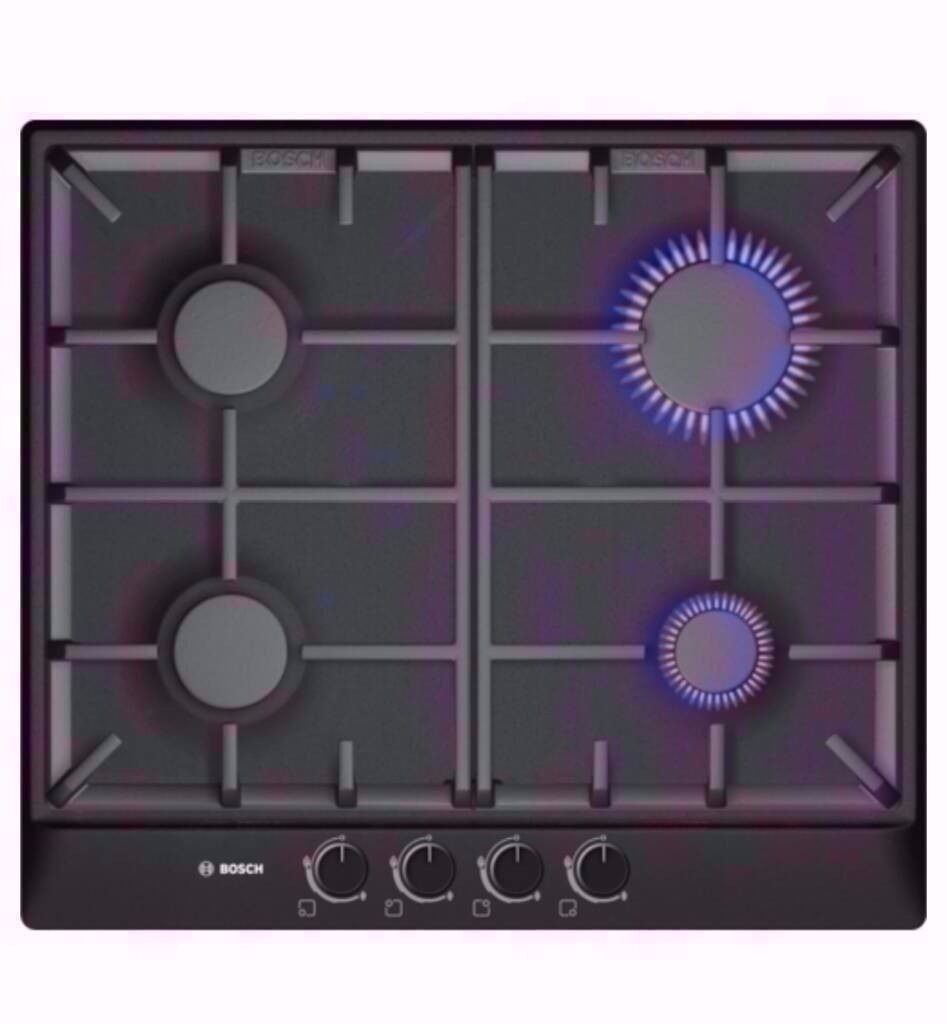 Brand New Bosch Classixx black 58cm Gas Hob. R. R. P. £229 Now Price £123