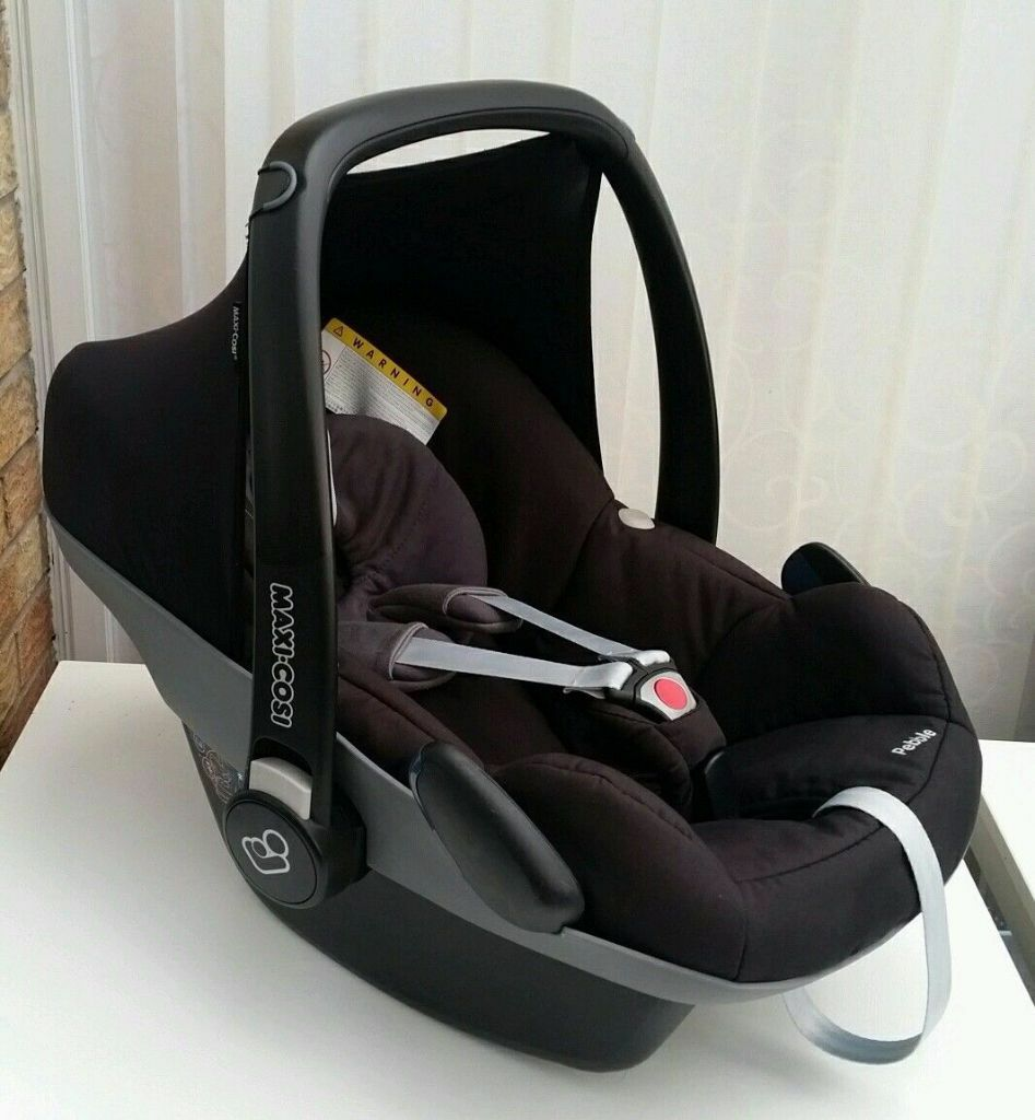 maxi cosi pebble rear facing car seat total jet black immaculate as new 0 3kg in. Black Bedroom Furniture Sets. Home Design Ideas