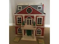 Sylvanian Regency Hotel With Box And Furniture, Excellent Condition