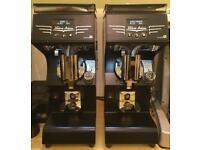 2x Victoria Arduino Mythos 1 Espresso Grinders