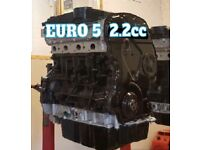 FORD TRANSIT ENGINE 2.2cc EURO 5 FULLY RECONDITIONED £1595