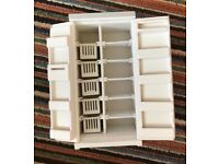 Handcrafted wooden dolls house fridge