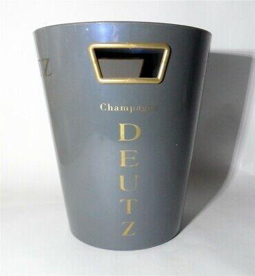 Vintage Bar DEUTZ Ice Bucket Bin Cooler Grey Champagne Home Table Decor Drinking