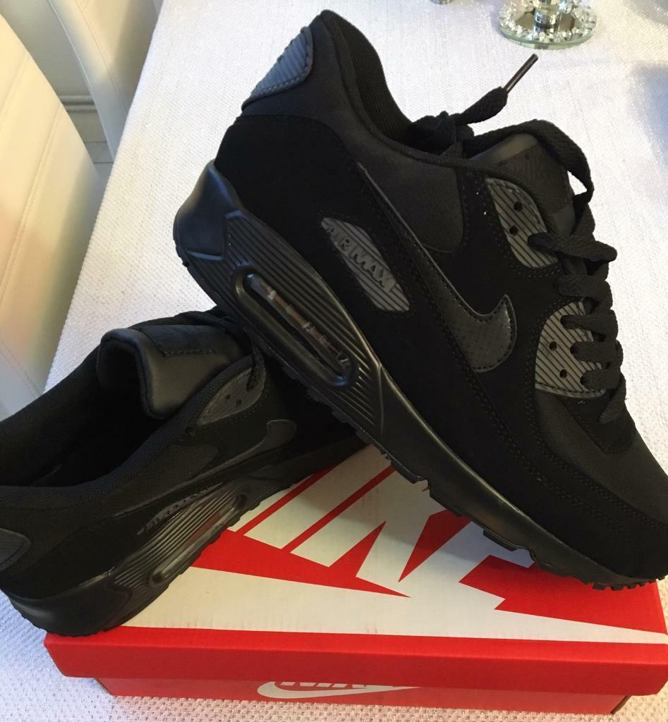 SIZE 6 7 8 9 10 BRAND NEW NIKE AIRMAX 90 AIR MAX BOXED TRAINERS BLACK (NOT) tn 110s 95 110 97 | in Erdington, West Midlands | Gumtree
