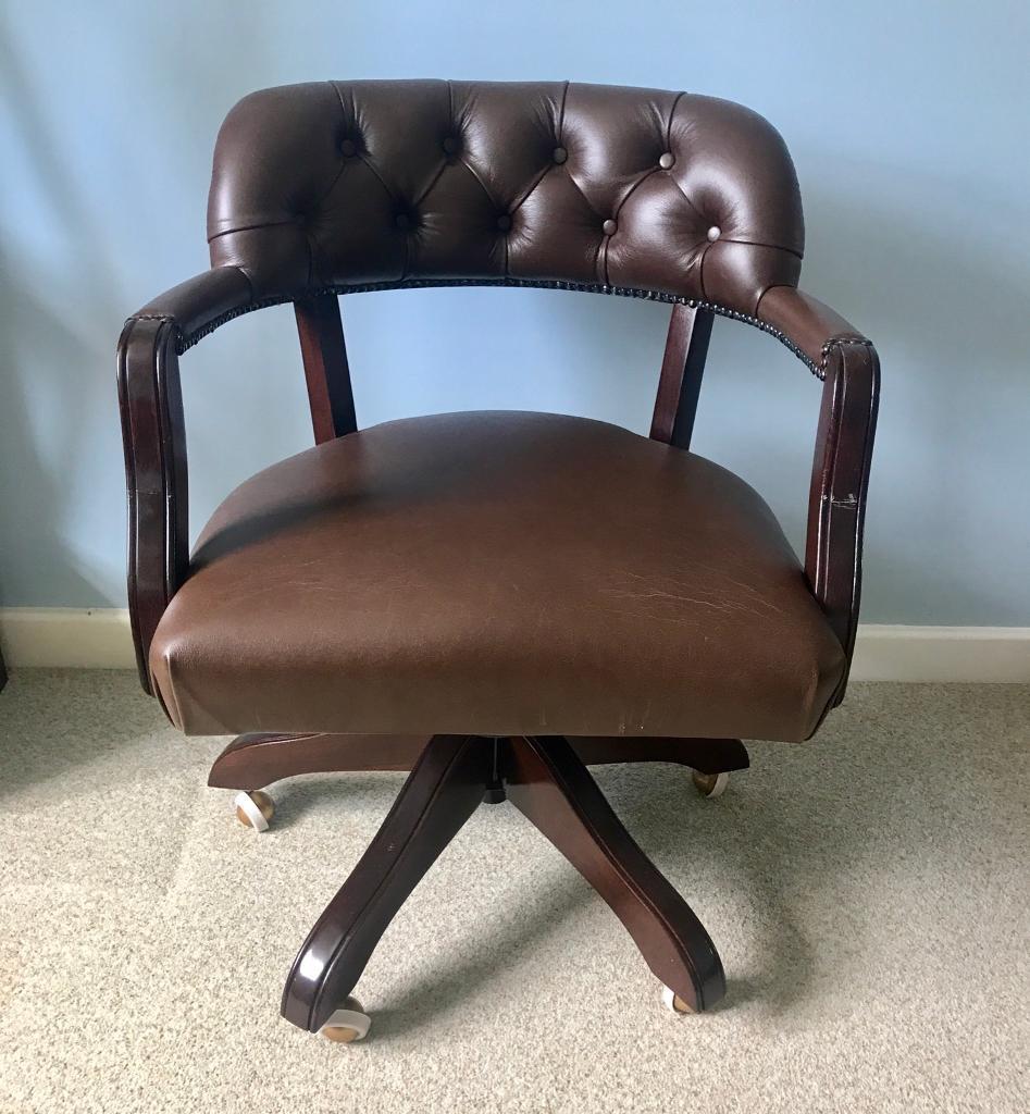 Laura Ashley Franklin Chestnut Office Chair