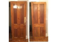 Traditional Victorian four panel door for sale