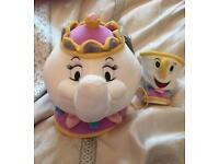 Disney store beauty and the beast 'mrs Potts & chip' soft toy