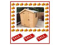 8x6 Apex Sheds £384.00 (QUALITY T&G) FREE INSTALLATION & FREE DELIVERY (SEE ALL PICTURES FOR PRICES