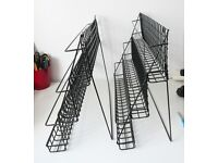 2 x Black Plastic Coated 3 Tier Display Stands for a Shop or Craft Stall in Excellent Condition
